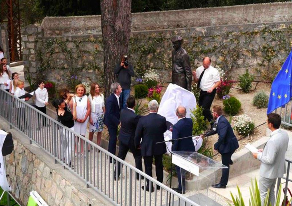 Interprétation Franco Russe lors de l'inauguration de la statue d'Ivan Bounine à Grasse
