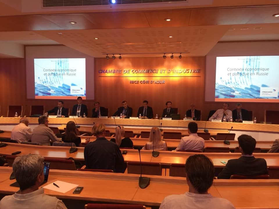 Конференция, организованная Русско-французским бизнес-клубом при поддержке Торгово-промышленной палаты г.Ниццы
